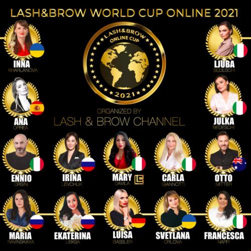 I giudici della Seconda Competizione Lash & Brow World Cup Online 2021